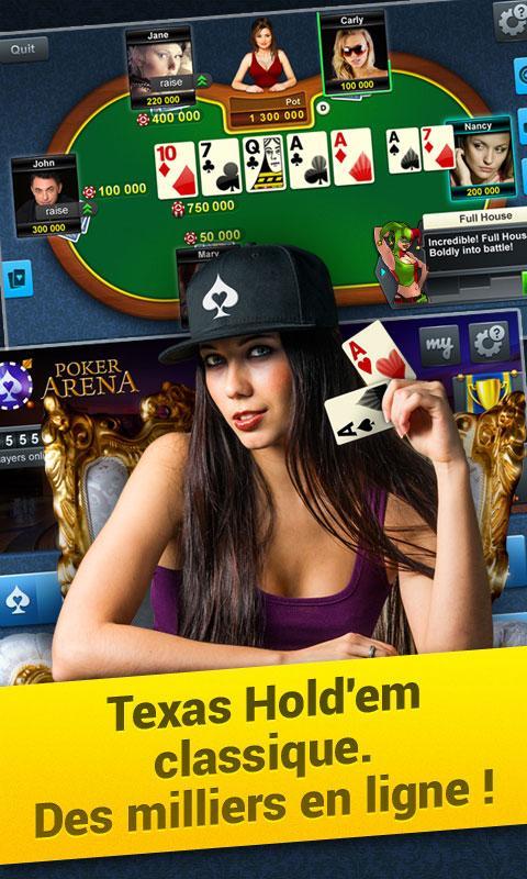 Jeux de poker en ligne gratuit texas holdem