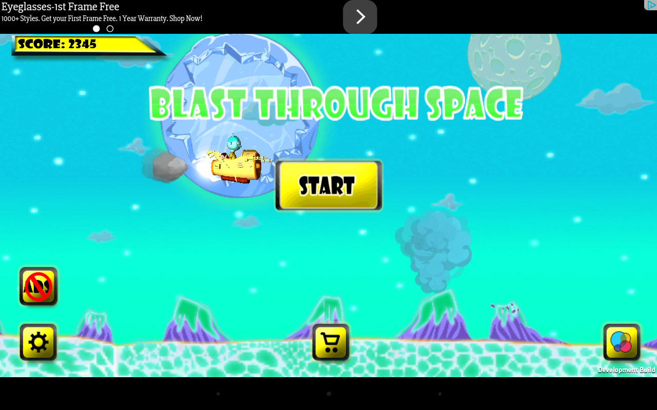 Blast through Space- screenshot