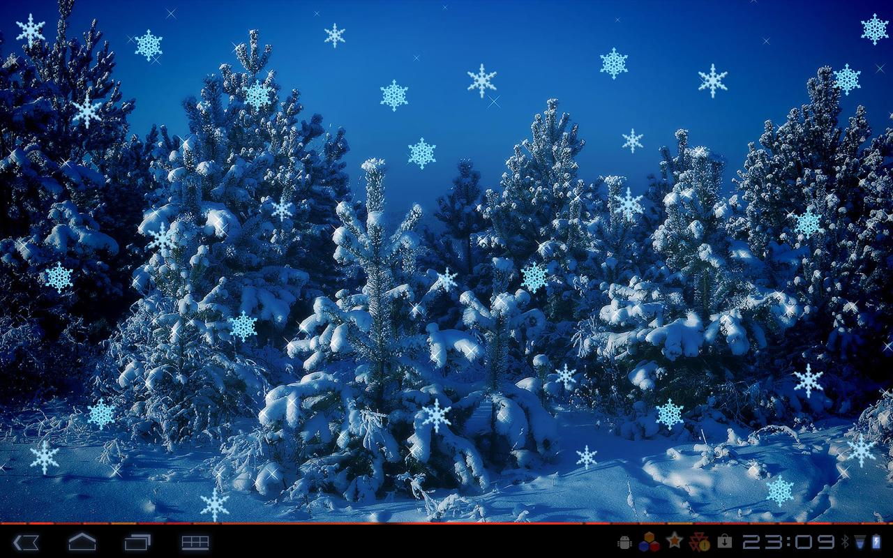 Christmas Flakes HD- screenshot