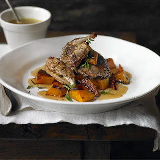 Honey & Black Pepper Partridge With Roasted Squash