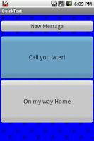 Screenshot of QuickText! SMS