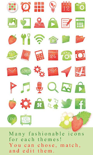 Strawberries & Flowers Theme 1.0.0 Windows u7528 4