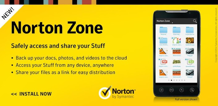 Norton Zone Cloud Sharing