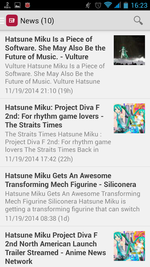 Hatsune Miku News- screenshot