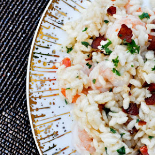 Shrimp and Bacon Risotto.