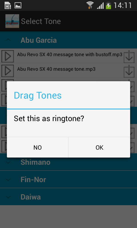 Dragtones- screenshot