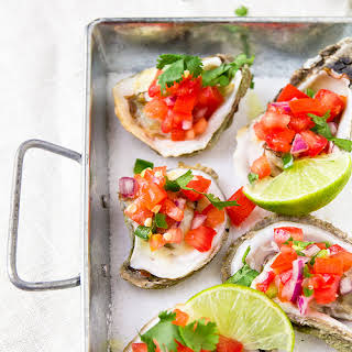 Grilled Oysters with Pico de Gallo.