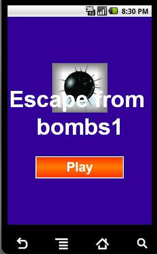 الهروب من القنابل