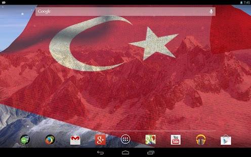 3D土耳其國旗LWP