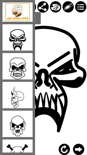 如何畫骷髏紋身