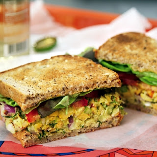Smoked Almond & Chickpea Salad Sammies (R-Rated Language!)
