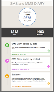 SMS and MMS Diary- screenshot thumbnail