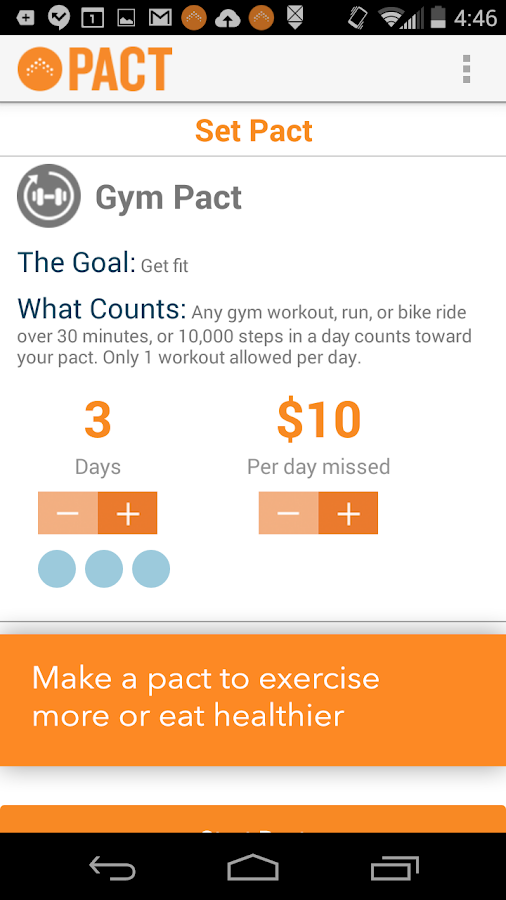 Pact: Earn Cash for Exercising – скриншот