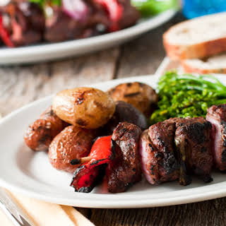 Fig and Balsamic Beef Kabobs.