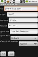 Screenshot of Upload 2 NAS Lite