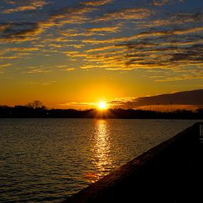 Sunset on the pond by Larry Landry - Landscapes Sunsets & Sunrises ( southernliving, ponds, sunsets, #sugarmillpond, #youngsville )