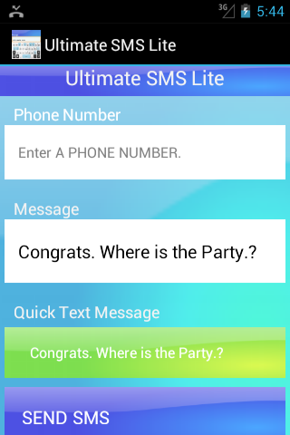 Ultimate SMS Lite - screenshot