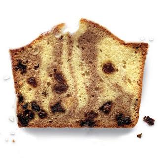 Cinnamon-Raisin Pound Cake with Basic Glaze.