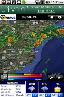 WVEC Radar - screenshot thumbnail