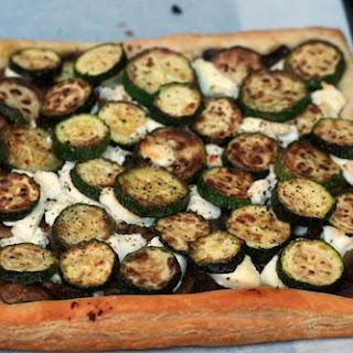 Zucchini, Mushroom, and Goat Cheese Tart