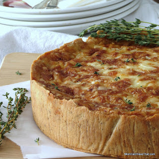 Quiche Lorraine with Ham & Caramelized Onions