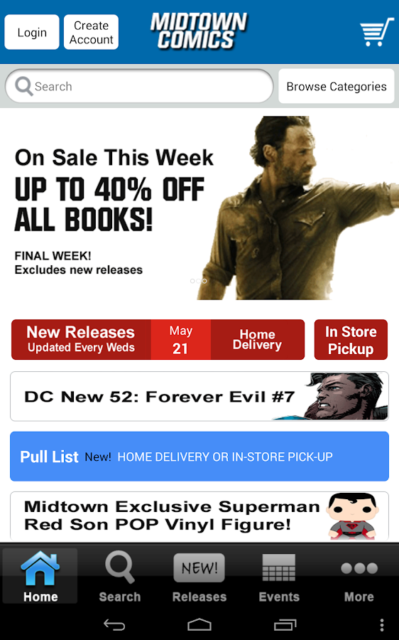 Midtown Comics- screenshot