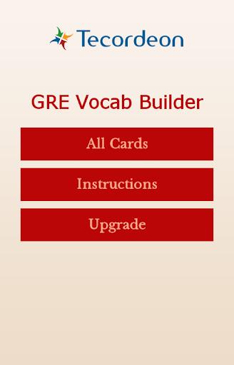 GRE Vocab Builder App