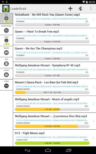 Loader Droid download manager  screenshots 8