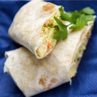 Scrambled Egg Tortilla Wrap Recipes.