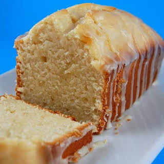 Vanilla Yogurt Cake with Orange Glaze.