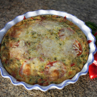 Turkey Quiche With Peppers and Green Onions