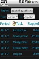 Screenshot of TickTock - Task TimeCard