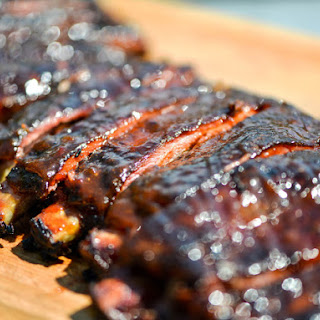 Smoky and Spicy Apricot-Glazed Barbecue Ribs.