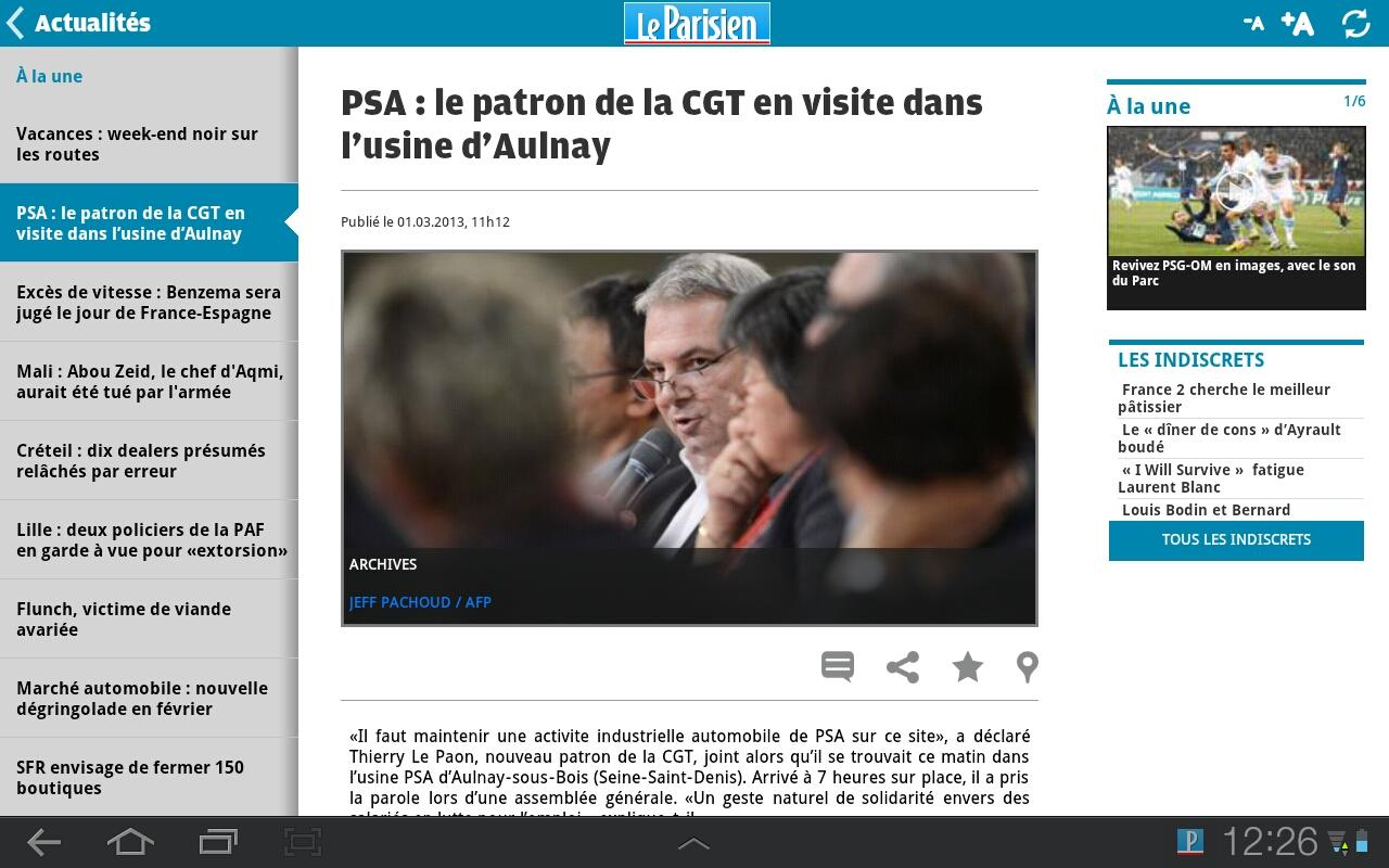 Le Parisien - screenshot