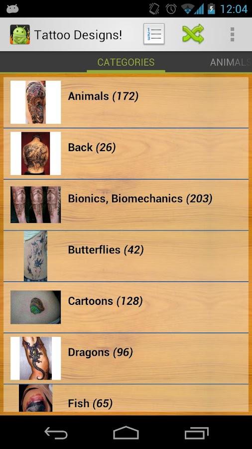 Tattoo Designs! - screenshot