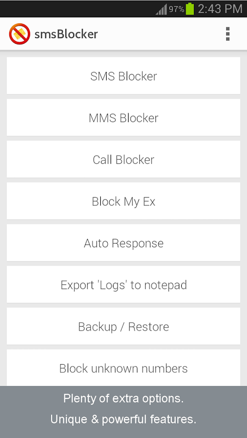 SMS Blocker AWARD WINNER Premi - screenshot