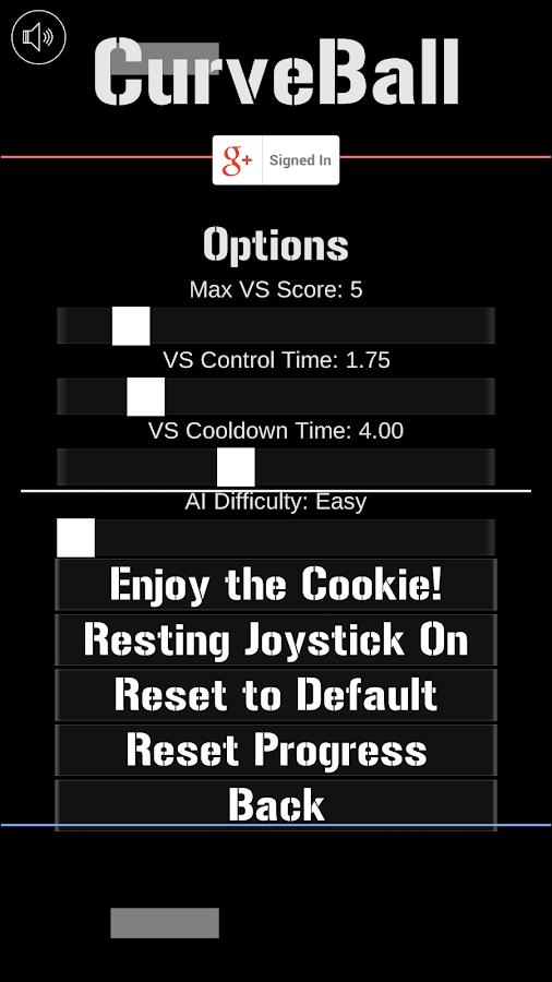 CurveBall- screenshot