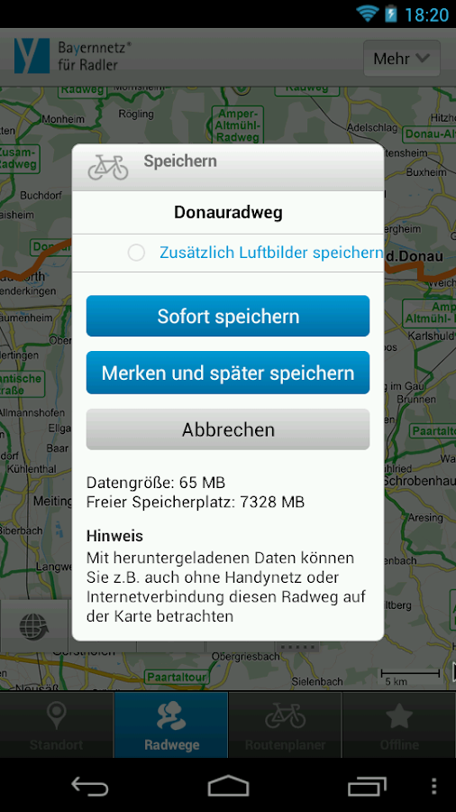 Cycle information for Bavaria- screenshot