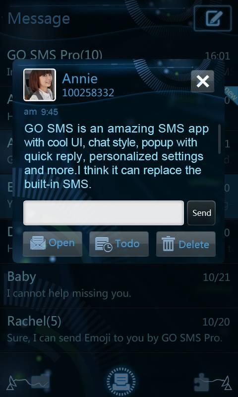 GO SMS Pro Future Theme - screenshot
