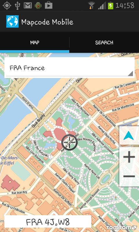 Mapcode Mobile- screenshot