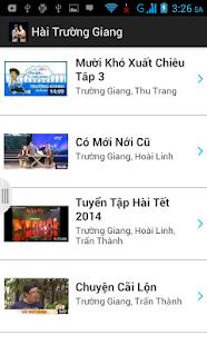 玩免費娛樂APP|下載Hài Trường Giang || Hoài Linh app不用錢|硬是要APP