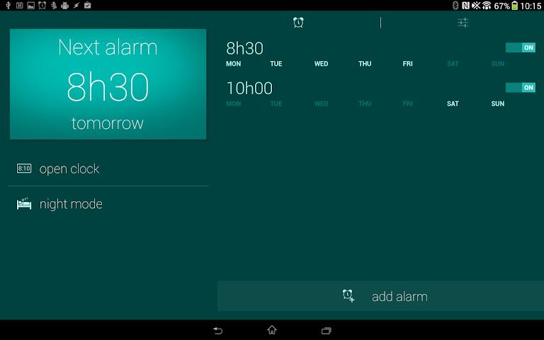 android Glimmer (luminous alarm clock) Screenshot 0