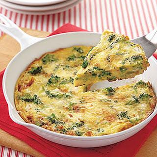 Broccoli and Feta Frittata.