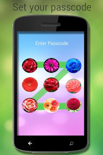 パスコードの花ロック画面