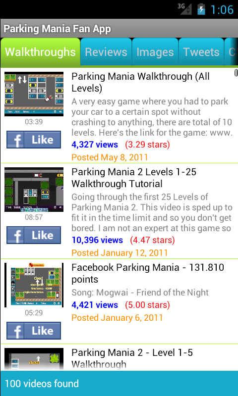 Parking Mania Fan App - screenshot