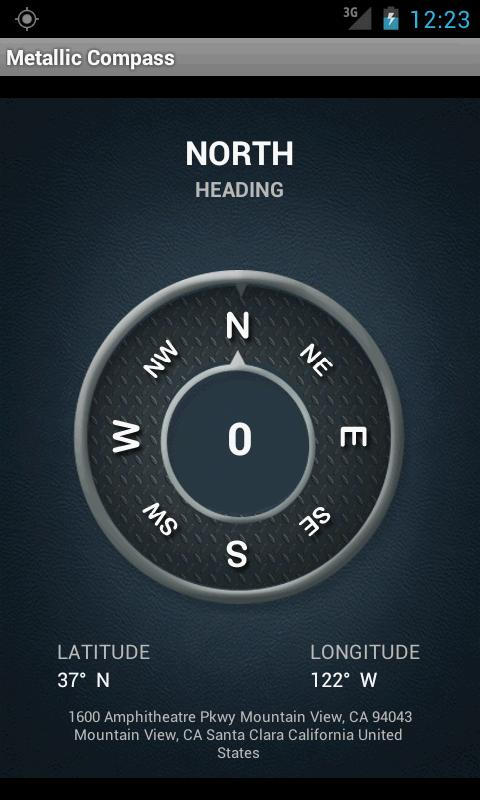 Metallic Compass - screenshot