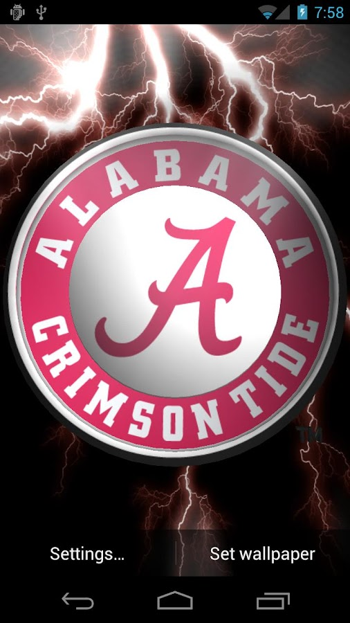 Alabama Crimson Tide LWP &Tone- screenshot