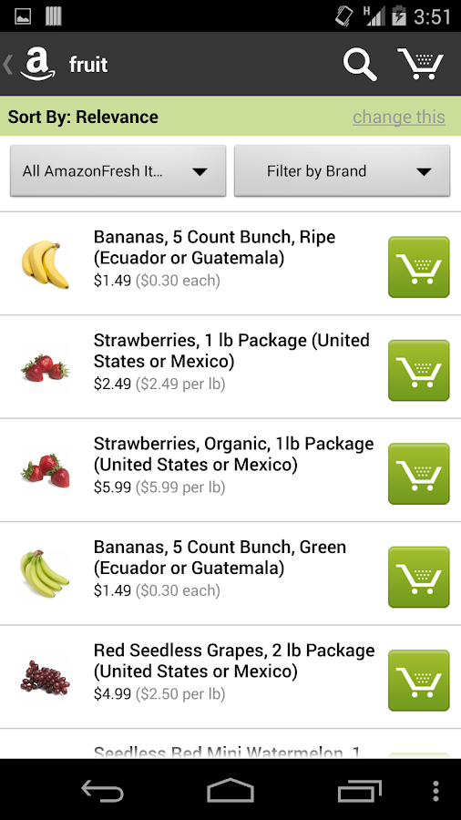 AmazonFresh- screenshot