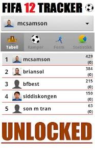 FIFA 12 Tracker unlock donate