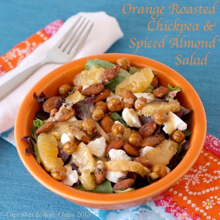 Orange Roasted Chickpea & Spiced Almond Salad with Sherry Citrus Vinaigrette